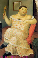 "Art Repro oil painting:""Fernando Botero Portrait at canvas"" 24x36 Inch #036"