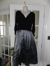 WOMENS JULIPA DRESS WITH APPLIQUE SKIRT AND SOFT JERSEY TOP SIZE 12