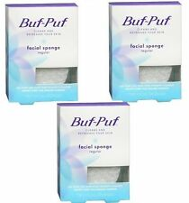Buf-Puf Regular Facial Sponge - Cleans & Refreshes Skin, Reusable (Pack of 3)