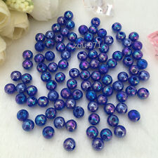 Wholesale150pcs 6mm Acrylic Pearl Round Spacer Loose Beads Dark blue colour !
