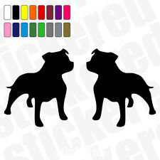 2 x Staffordshire Bull Terrier Staffy / Auto / Finestra Adesivi / Decalcomanie