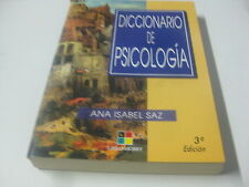 Libro Diccionario De Psicologia - Ana Isabel Saz