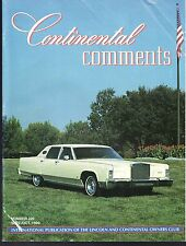 Lincoln Continental Comments Magazine September / Oct. 1999 #230 Excellent 1977