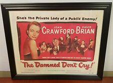 """Vintage Movie Poster """"The Damned Don't Cry"""" **1950** JOAN CRAWFORD - FRAMED"""