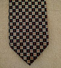Qian Lin White Red Blue 100% Silk Tie from Hong Kong