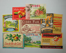 LOT C3   9 ETIQUETTES CIDRE CHOUCHENN HYDROMEL ORIGINALES ANCIENNES LABELS