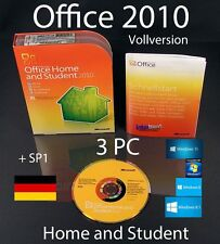 Microsoft Office Home and Student 2010 versione completa 3 PC BOX, DVD + sp1 OVP