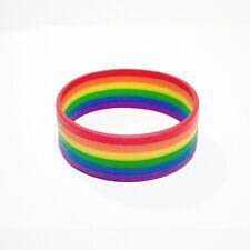 Gay Pride Rainbow Bracelet Wristband LGBT Mardi Gras