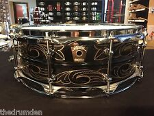 Ludwig Black Beauty 14 x 5 John Aldridge Engraved Brass Snare Drum
