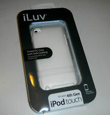iLuv iCC618WHT Tinted PC Case with Soft coating iPod Touch 4th Gen. Case (J2-13)