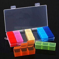 NEW Colorful Rainbow 7 Seven Days Pill Box Medicine Storage Drug Case jewel case