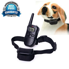 Vibra Remote Stop No Barking Pet Dog 100LV Level Shock + Training Collar 300M