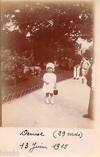 BJ068 Carte Photo vintage card RPPC Enfant mode fashion bébé parc jardin