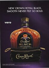 2010 CROWN ROYAL BLACK magazine ad canadian whisky alcohol advertisement print