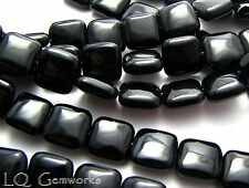 "15.5"" Strand BLACK ONYX  12mm Square Beads"