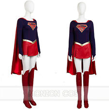Superwoman Cosplay Costume Supergirl Kara Zor-El Halloween Costume All Size