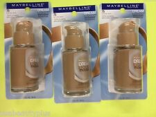3 X Maybelline Dream Liquid Mousse Foundation NATURAL BEIGE =75 MEDIUM2.5 Carded