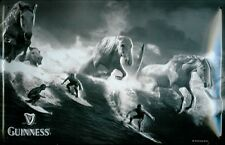 Blechschild Guinness Bier Surfer Wellen Pferde Schild Nostalgie Werbeschild