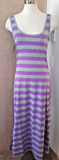 Exist Miami NWT! Adorable Sleeveless Grey Purple Knit Maxi Dress MSRP $50 M