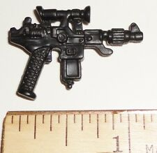 BIN A6   G I JOE Accessory   Black Auto Assault Pistol   ( 1987 Cobra Commander)