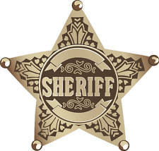 "Sheriff Police Pattern Star Emblem Sign Car Bumper Sticker Decal 5"" x 5"""