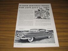 1956 Print Ad Nash Ambassador V-8 Custom Country Club #74 in Ed Zern Series