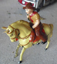 "RARE Vintage 1950s Kohler US Zone Germany Windup Horse and Cowboy 3"" Tall"