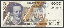Ecuador P-128c 5000 Sucres 1999 Unc