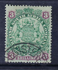RHODESIA BRITISH SOUTH AFRICA CO SG36 3/- gr & mauve/blue very fine used cat£42