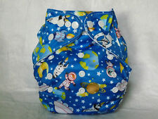 NEW Cloth Pocket Diaper Microfiber Insert Spaceman Boy/Girl EB0624