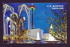 1962 Arches Science Pavillon Seattle World's Fair exposition Washington postcard