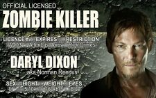 The Walking Dead Daryl Dixon  novelty plastic collectors card Drivers License