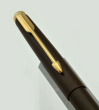 Parker 50 Falcon Ballpoint Pen - Matte Brown w Gold Trim (1970s New Old Stock)