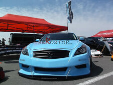FRP SKYLINE AK LB STYLE FRONT BUMPER WITH LIP SPLITTER FOR 2008- 2D G35 G37 V36