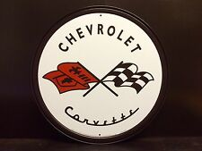 Corvette 1953 Round TIN SIGN Garage Chevy Racing Car Wall Decor