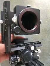 SPIRATONE, HAMA, KENLOCK VIEW CAMERA 35MM BELLOWS, RARE