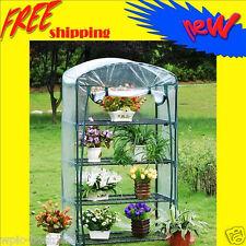 Garden Green House - 4 tier Mini Portable Hot Greenhouse w/Shelves - GH006