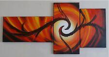 """Mano pintada de rojo naranja Sun Fire Sol Óleo Pintura Pared Decoración Lienzo Enmarcado"""""""""""