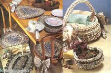 Rag crochet patterns: baskets; placemats; chairpads; learn to make rugs