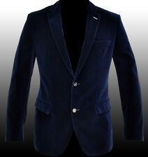 NEW HUGO BOSS Blue Velvet Blazer Sport Coat Jacket Veste Sakko 40R 50