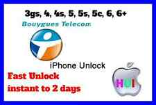 Factory Unlock iPhone For 3g/3gs/4/4s/5/5s/5c/6/6+ France Bouygues Telecom insta