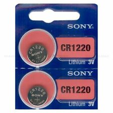 2 NEW SONY CR1220 3V Lithium Coin Battery Expire 2025 FRESHLY NEW - USA Seller