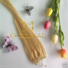 22inch 55cm #613 lightest blonde 1g/s Micro Loop human hair extensions 25S