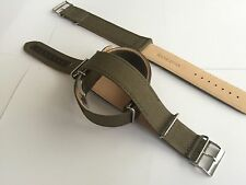 20mm Fabric Nylon Leather Watch Band Strap Submariner Diver Military Style