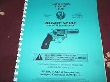 RUGER   SP 101,  DOUBLE ACTION REVOLVER,    40 Pages