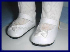 "WHITE Patent Mary Jane Style Doll SHOES for Ideal P-91 16"" TONI"