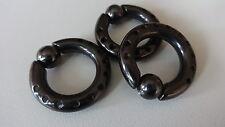 1x CBR/BCR RING TITAN GELOCHT INTIM BRUST OHR NASE Ball Schwarz 6g 4mm Ø 12,2mm