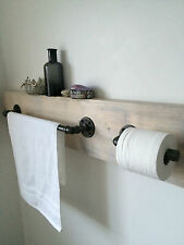 Steel Pipe Towel Rail and Toilet Roll Holder *industrial/Modern/Urban*