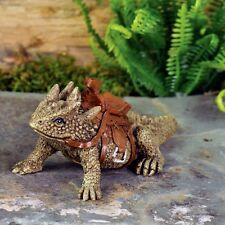 Miniature Garden Horned Toad Lizard  SPIKE  w/Saddle / Dollhouse Fairy GO 17239