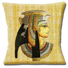 """NEW Egyptian Papyrus Parchment Pharaoh Head Multicolour 16"""" Pillow Cushion Cover"""
